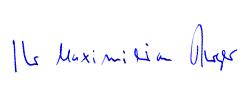 Professor Burger Max Unterschrift